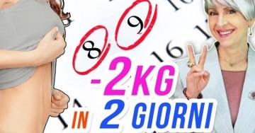 Bastano 2 giorni per dimagrire 2 chili di grasso addominale se fai questo