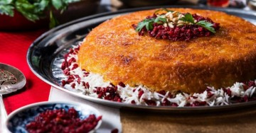 La migliore ricetta di Tahchin, dolce iraniano con arancia, miele e zafferano
